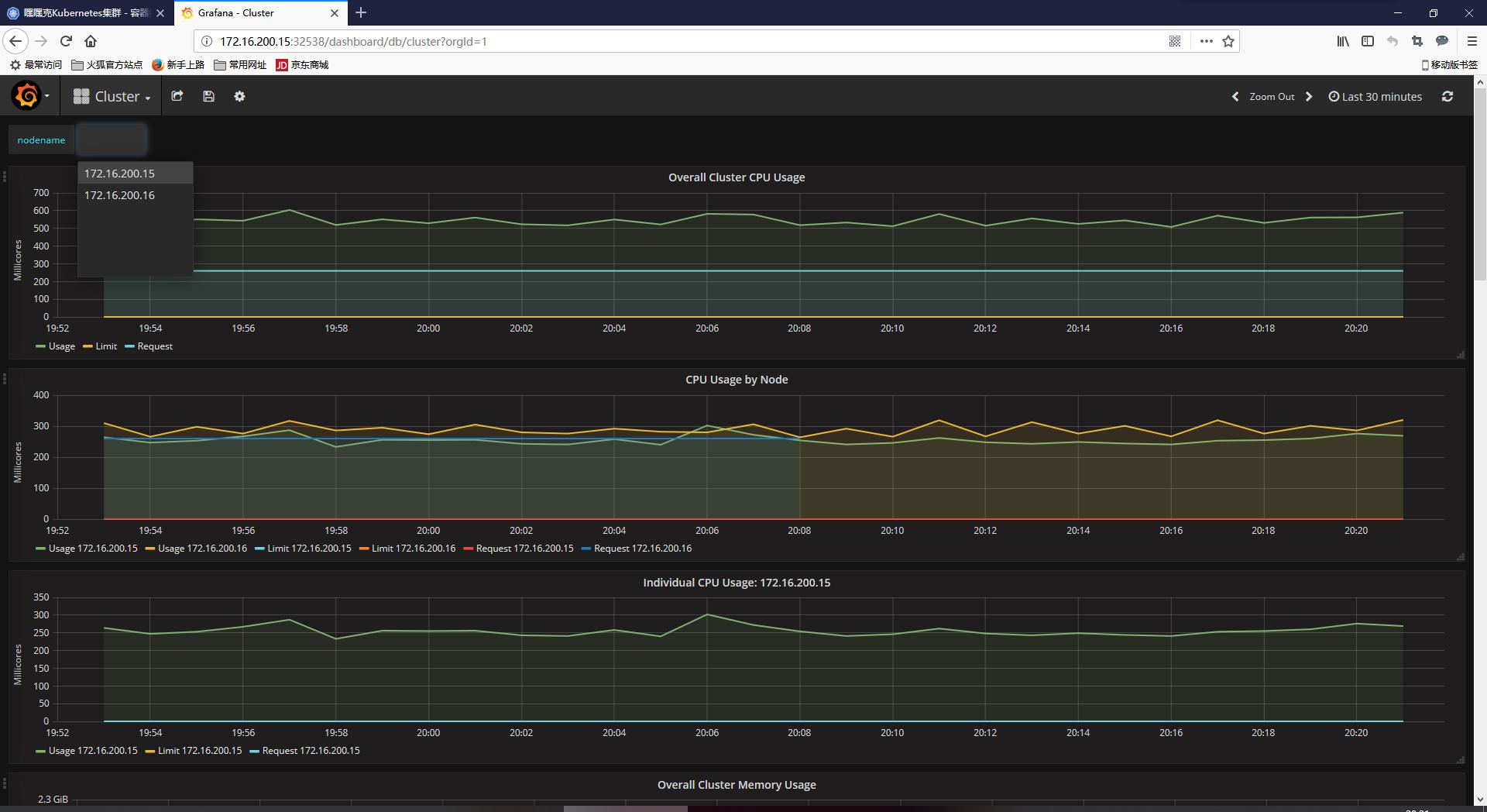 Kubernetes v1.9.7安装部署-Heapster监控插件