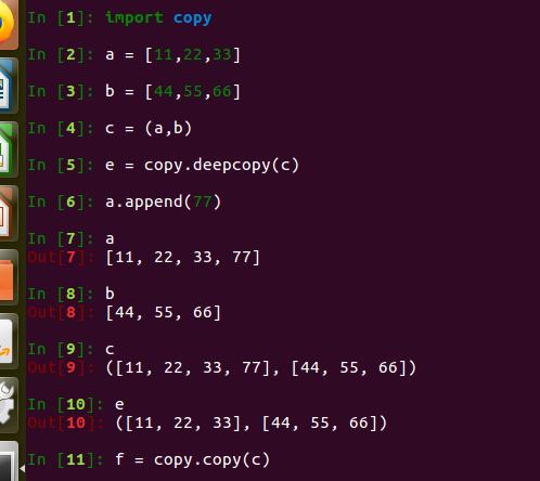 Python中的浅拷贝、深拷贝和其他拷贝