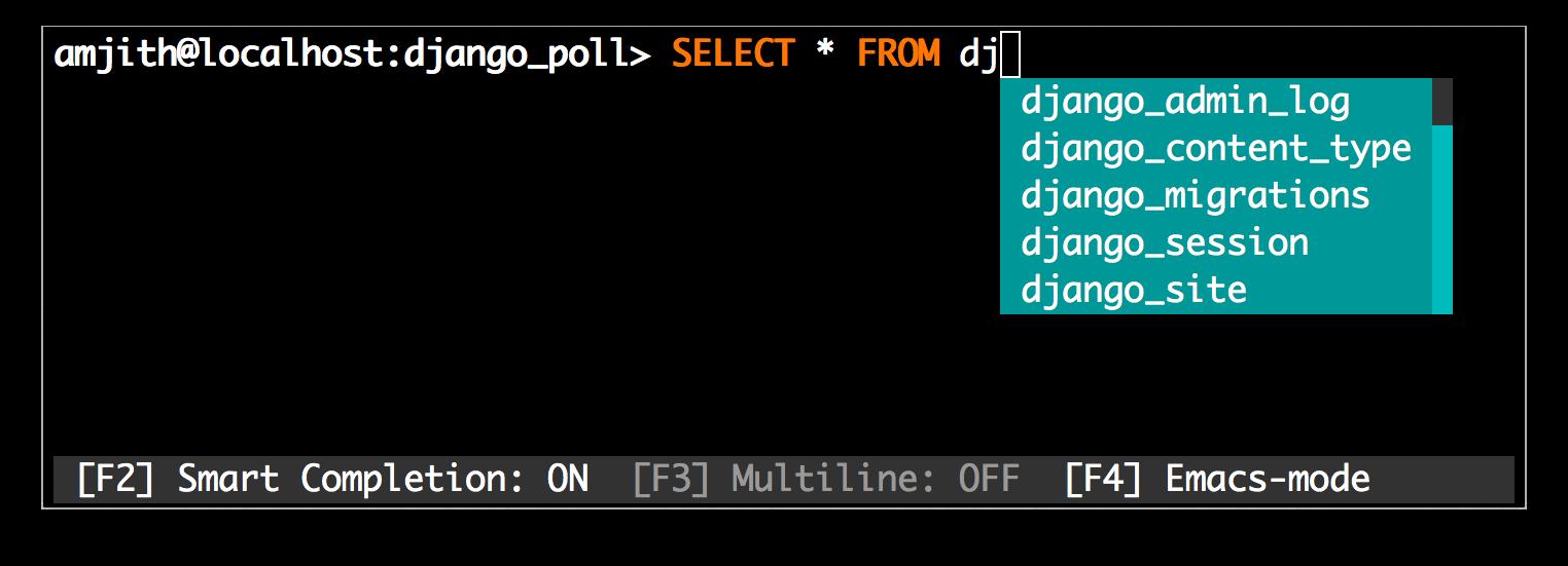 数据库命令行操作神器:mycli