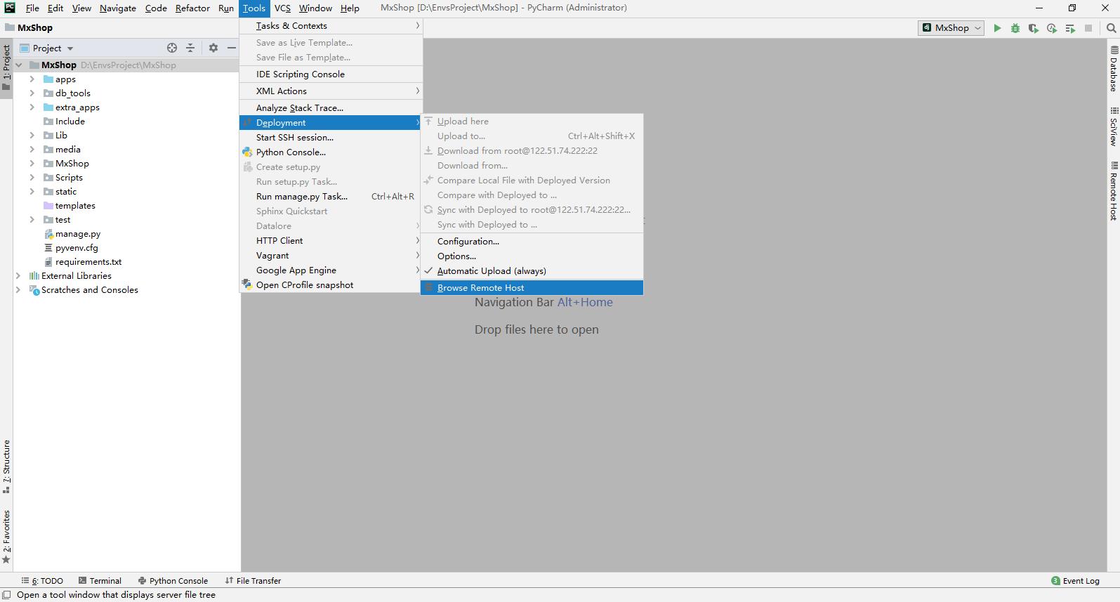 PyCharm远程代码调试
