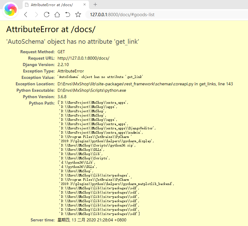 'AutoSchema' object has no attribute 'get_link'