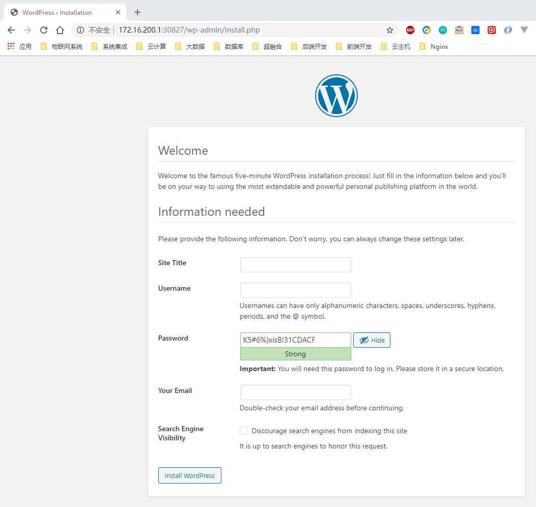 通过Kubernetes部署WordPress5.3.2