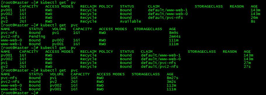 Kubernetes持久化数据存储-PVC