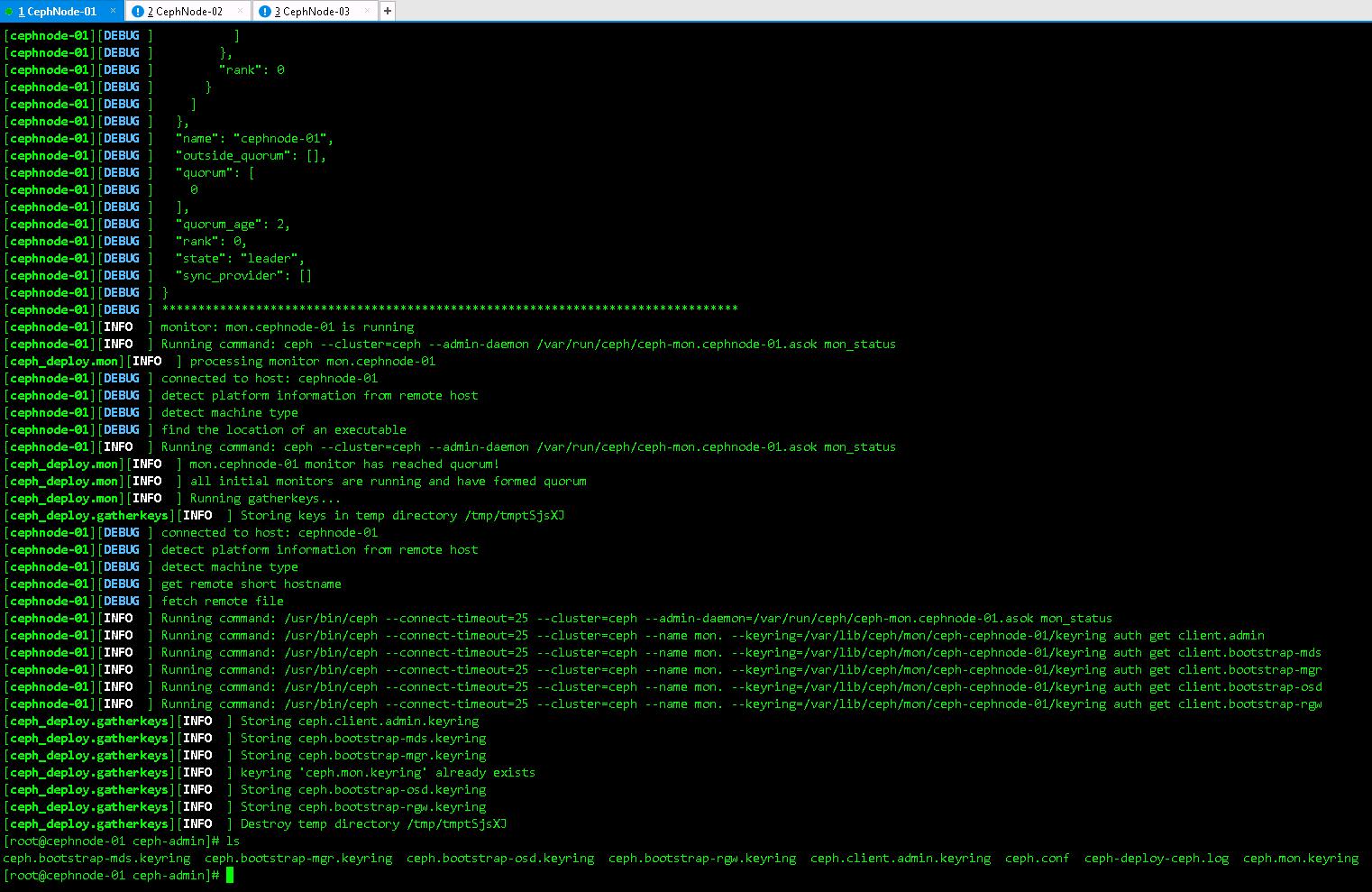 快速部署Ceph分布式存储高可用集群